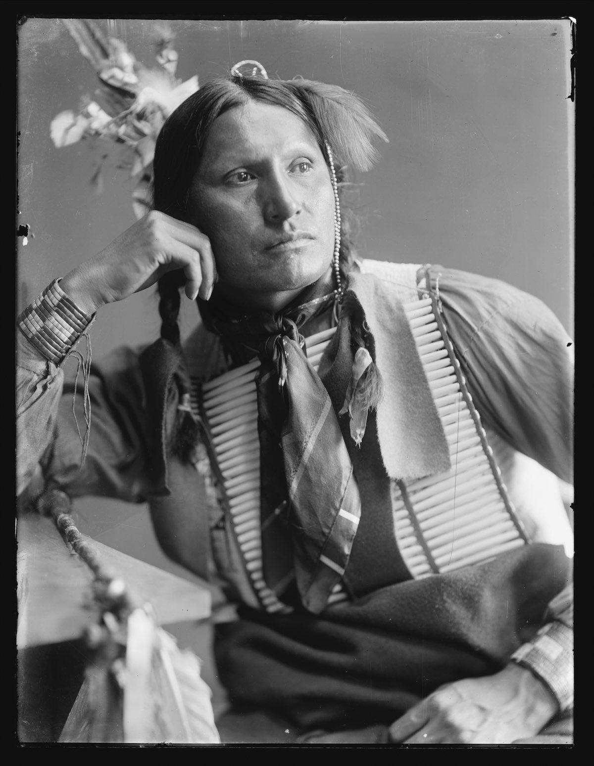 Samuel American Horse, American Indian from Buffalo Bill's Show